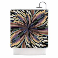 Love Affair by Danny Ivan Geometric Shower Curtain