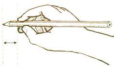 Zo ziet een goede potloodgreep eruit