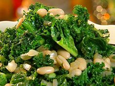 Greens and Beans...I finished of with a sprinkling of bacon bits.  I like making this as a Winter side dish.