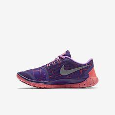 Nike Free 5.0 Lava (3.5y-7y) Kids' Running Shoe