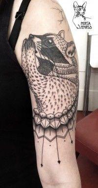 Raccoon Tattoo.