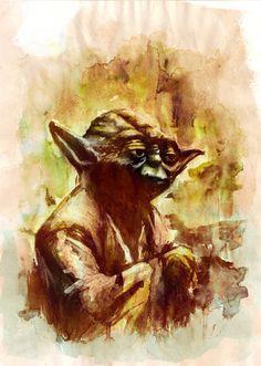 Watercolor - Yoda