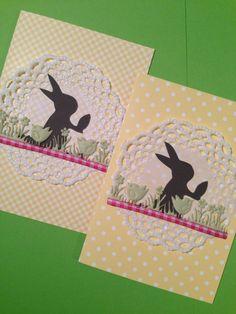 Easter greeting cards Easter Greeting Cards, Handmade, Hand Made, Handarbeit