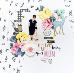 Scrapbook layout about being a mom, 1 photo