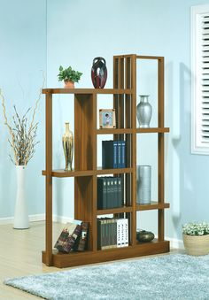 ID USA Furniture Distributor #13632 Bookcase features five shelves and is finished all around so can be used as a room divider. #IDUSA #IDUSAfurniture