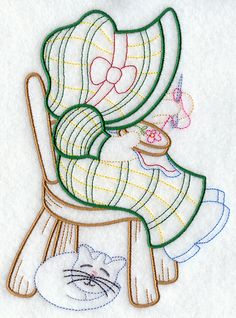 Machine Embroidery Designs at Embroidery Library! - Sunbonnet Sue's Sweet Stitching