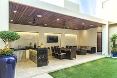 An outdoor kitchen can be an addition to your home and backyard that can completely change your style of living and entertaining. Backyard Patio Designs, Backyard Landscaping, Terrace Design, Garden Design, Modern Patio Design, Outdoor Rooms, Outdoor Living, Outdoor Gardens, Outdoor Patios