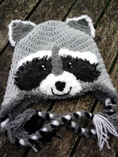 Raccoon hat for my friend's little boy. Own design