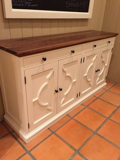 White Buffet Table. Handmade By Branigan Robertson. Modeled After The Pottery  Barn Lorraine Buffet