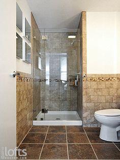 Tiled Bathroom Half Wall tiling bathroom walls | st louis tile showers tile bathrooms
