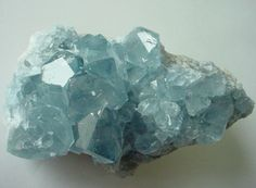Celestite // One of my favorite minerals! The most gorgeous, soft ocean blue...
