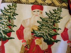 Oven Mitts Santa Victorian Santa Oven Mitts Pot #Santa_Claus #Santa #Christmas