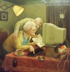 Our older ones ...  Learning to use  the computer !    <3     for Family Worship and Personal Study   <3