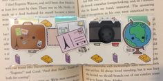Magnetic Bookmarks  World Traveler (10.00 CAD) by HappyHelloCo