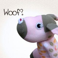Etsy - Sock dog DOTS - girlish colors, felt face by strumpfkunst | Craft Juice