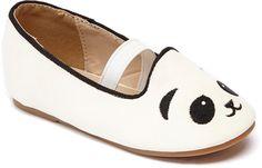 White Panda Strap Dolly Flat