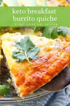 This keto breakfast burrito quiche is meal prep and freezer friendly. Only 2 car. - This keto breakfast burrito quiche is meal prep and freezer friendly. Only 2 carbs per serving! Keto Diet Breakfast, Breakfast Recipes, Breakfast Quiche, Breakfast Ideas, Breakfast Cereal, Recipes Dinner, Edamame, Healthy Recipes, Low Carb Recipes