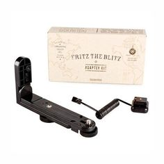 This adapter kit makes it possible to use the Fritz the Blitz flash with any camera equipped with a tripod thread and hotshoe adapter. The Blitz, Gifts For Photographers, Lomography, Kit, Tripod, Shoe, Zapatos, Shoemaking, Footwear