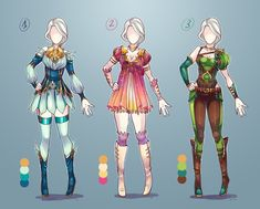 Simple quick set. Most of last week I worked on few comicbooks, I need a break, designing outfits is good way to relax^^ only Autobuy 15$ each adopt please put number of adopt and...