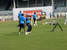 Rahul dravid practicing on Crazy catch nets...