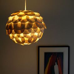 lamp made of pages of old books - from Zipper8lighting. Woohoo for reusing.