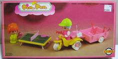 PIN Y PON 1984 MOTO TRICYCLE & TRAILER FAMOSA LYRA 2220 GREEK EUROPEAN NEW MIB