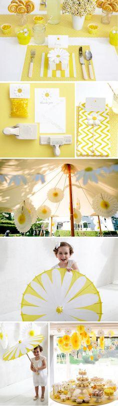 yellow, daisy theme