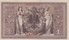 1910 Imperial German 1000 Mark - Red Seal reverse