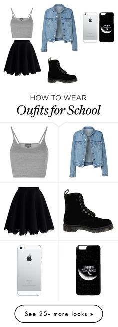 """School Carnival look"" by emyinhouston on Polyvore featuring Chicwish, Topshop and Dr. Martens"