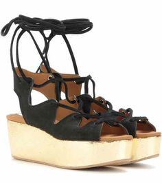 Suede platform sandals | See By Chloé