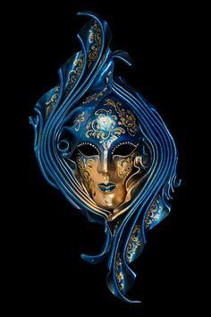 Venetian Mask  Blue Siderea by OriginalVeniceShop on Etsy
