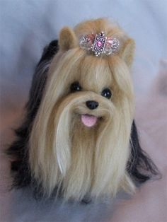 Needle Felted Yorkshire Terrier by Laurie Valko