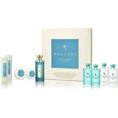 BVLGARI Eau Parfumée  Au Thé Bleu Guest Collection Set featuring polyvore, beauty products, gift sets & kits, blue perfume, bulgari and bulgari perfume