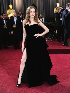 Angelina Jolie's Slit Dress Styles