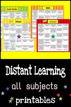 Teaching ideas for kindergarten and elementary school teachers. Parents beginning to homeschool, can print these subject based cards. Homeschool Kindergarten, Homeschooling, Music Activities, Literacy Activities, Alternative Education, Choice Boards, Science Experiments Kids, Creative Teaching, Kids Education
