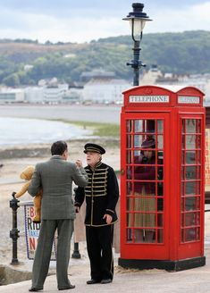 17 July: The scene shot at Llandullo promenade. (photo by Craig Dinsdale) Eddie Izzard, James D'arcy, Finishing School, Judi Dench, Lighthouse, Scene, Daughter, Mansions, Couple Photos