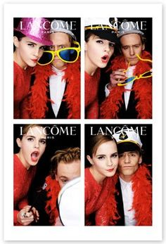 Emma Watson & Tom Hiddleston, Lancome.