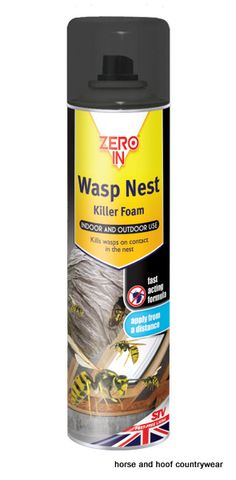 STV International Wasp Nest Killer Foam Kills wasps in the nest Easily applied from a distance treats nest early morning or late evening.