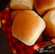 Fluffy Dinner Rolls Recipe Breads with milk, butter, hot water, sugar, salt, flour, yeast