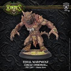 Feral Warpwolf #HORDES #Circle #Orboros #PrivateerPress #warbeast #miniatures #wargames