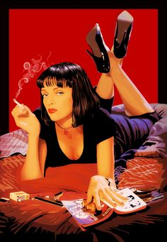 Pulp Fiction poster, t-shirt, mouse pad Uma Thurman Pulp Fiction, Mia Wallace, Crime Film, Fiction Movies, Pulp Fiction Characters, Fiction Quotes, Movie Prints, Art Graphique, Red Aesthetic
