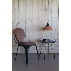 lot de 2 chaises vintage mtal louixx - Chaise Eleven Patchwork Colors