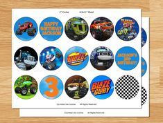 blaze and the monster machines pictures for printing cup cakes - Google Search
