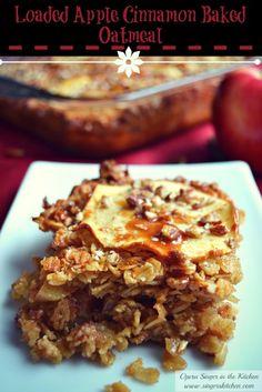 Loaded Apple Cinnamon Baked Oatmeal + Giveaway - Opera Singer in the Kitchen Delicious Breakfast Recipes, Brunch Recipes, Brunch Ideas, Breakfast Ideas, My Favorite Food, Favorite Recipes, Opera Singer, Baked Oatmeal, Apple Cinnamon