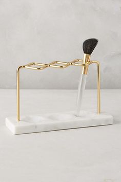 Brass Makeup Brush Holder - anthropologie.com