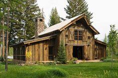 Rustic-modern barn in the Swan Mountain Range