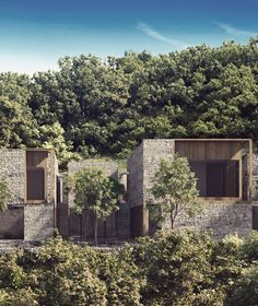 Countryside House / Mexico #countryside #architecture #wood #stonewall #woodstructure #stonefacade #mexico #mexicanarchitecture #woodhouse #interiordesign #ccarquitectos #manuelcervantes #manuelcervantescespedes Tropical Architecture, Facade Architecture, Residential Architecture, Amazing Architecture, Landscape Architecture, Bungalows, Facade Design, House Design, Villa