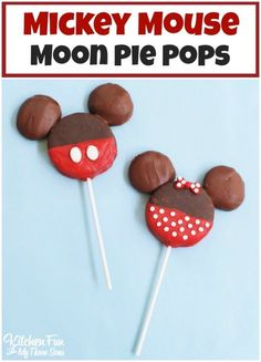 Easy Minnie and Mickey Mouse Treats made with Moon Pies for Kids! Your little…