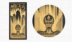On the Creative Market Blog - Top 15 Poster Designs in History  This poster was created by Schulz Neudamm in 1926 and was designed for the film Metropolis. Today, you'll see a lot of people using a similar combination of art deco and futurism to achieve this beautiful look. It also grabs attention by breaking free from poster dimension standards and creating a huge block of white space between the title and the foreground figure.