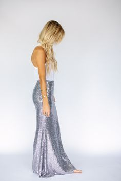 Sequin Mermaid Maxi Skirt